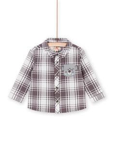 Camisa toupeira e branca aos quadrados bebé menino LUPOECHEM / 21SG10Y1CHM001