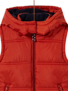 Blusão sem mangas com capuz e padrão de raposa menino MOGRODOU2 / 21W90251BLOE402