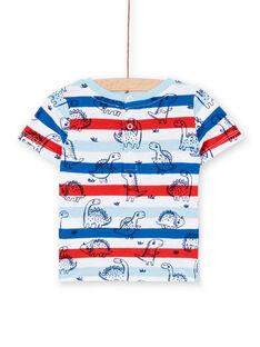 T-shirt às riscas mangas curtas bebé menino LUCANTI / 21SG10M1TMC000