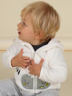 Casaco com capuz cru com padrão de monstro em soft boa bebé menino MUHIGIL / 21WG10U1GIL001