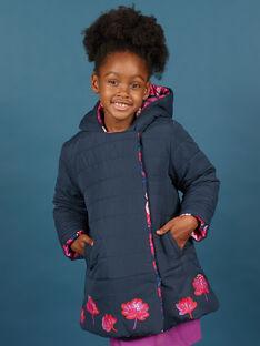 Parca com capuz reversível rosa e azul-marinho menina MAPAPARKA / 21W90151PAR070