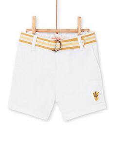 Bermudas brancas bebé menino LUBALBER / 21SG10O1BER000