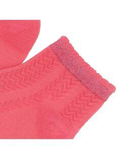 Girls' ankle socks CYAJOCHO6A / 18SI01RDSOQD312