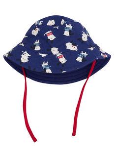 Chapéu bob bebé menino azul-marinho com padrão cão JYUGRACHA / 20SI10E1CHA702