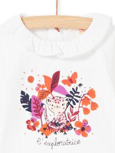 Body branco e padrão colorido bebé menina MIPABOD / 21WG09H2BOD001