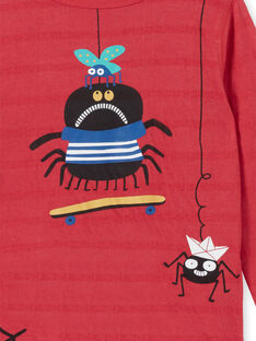 T-shirt mangas compridas vermelha - Criança Menino LOROUTEE1 / 21S902K2TML330