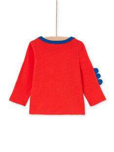 T-shirt vermelha e azul bebé menino LUCANTEE1 / 21SG10M1TMLF505