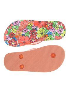 Girls' flip flops CFTONGFLEU / 18SK35Z1D01099