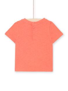 T-shirt de mangas curtas vermelho bebé menino LUBONTI2 / 21SG10W4TMCF504