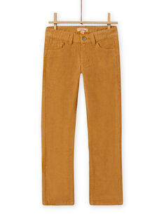 Calças em veludo canelado lisas amarelo menino MOJOPAVEL5 / 21W902N2PANB101
