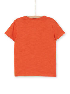 T-shirt laranja criança menino LOTERTI3 / 21S902V3TMCE410