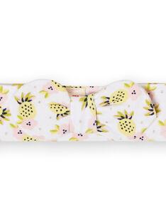 Fita branca, amarela e rosa bebé menina LYIBALBAN1 / 21SI09O1BAN000