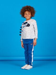 Calças de fato de treino azul menino LOBLEJOG / 21S902J1JGB702