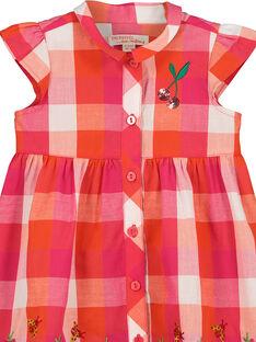 Vestido aos quadrados bebé menina FIYEROB4 / 19SG09M4ROB000