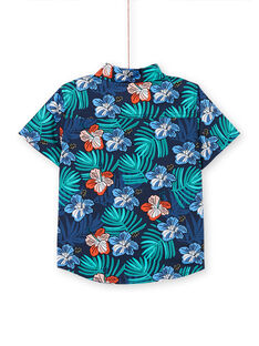 Bermudas azul-marinho estampado florido criança menino LOBONSHIRT / 21S902W1CHM705