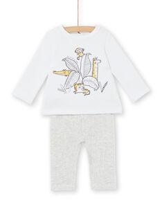 Conjunto forrado quente e acolchoado e leggings de veludo caneladas nascimento unissexo LOU1ENS5 / 21SF04H2ENS000