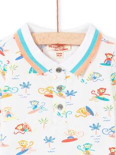Polo branco bebé menino LUBONPOL / 21SG10W1POL000