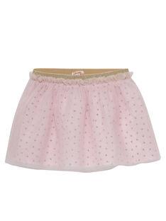 Saia de tule rosa pálido bebé menina JIPOEJU / 20SG09G1JUP301