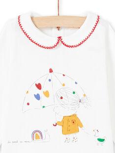 T-shirt cru bebé menina MIMIXBRA / 21WG09J1BRA001