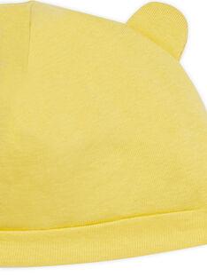 Gorro de nascimento amarelo com orelhas LOU1BON2 / 21SF42H3BNA103