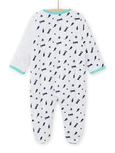 Babygro cinzento mesclado padrão gato bebé menino MEGAGRECHA / 21WH1495GREJ920