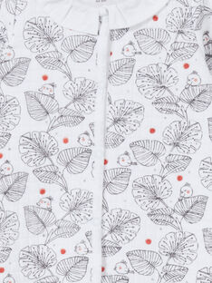 Babygro branco e preto estampado folhas LOU1GRE1 / 21SF03H1GRE000