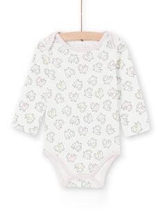 Body recém-nascido menina de mangas compridas estampado gatinhos-unicórnios multicores LEFIBODANI2 / 21SH1328BDL001