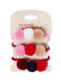 Pack de elásticos a condizer menina MYAJOELA7 / 21WI01S3ELA420