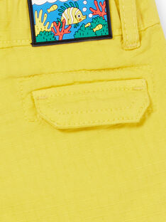 Calções amarelos bebé menino LUVIBER2 / 21SG10U3BERB115