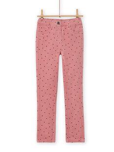 Calças em veludo canelado rosa às bolas menina MAJOVEJEG3 / 21W901N3PANH700