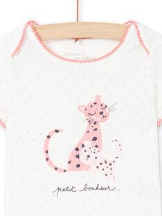 Body cru e rosa bebé menina MEFIBODCAL / 21WH13B2BDL001