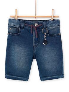 Bermudas de ganga azul criança menino LOHABER1 / 21S902X2BERP274