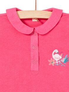 Body rosa com padrão decorativo bebé menina LIBONBOD / 21SG09W1BOD302