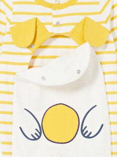 Babygro recém-nascido menino em jersey às riscas padrão cachorro LEGAGRECHI / 21SH1457GRE006