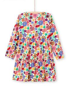 Vestido de mangas compridas com estampado florido colorido menina MAMIXROB2 / 21W901J3ROB009