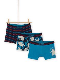 Pack de 3 boxers a condizer padrões ursos menino MEGOBOXOURS / 21WH12C2BOX705