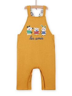 Jardineiras reversíveis amarelo padrão animais bebé menino MUMIXSAL / 21WG10J1SAL001