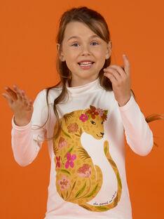 Camisola interior cru com padrões leopardo e flores menina MASAUSOUP / 21W901P1SPL001