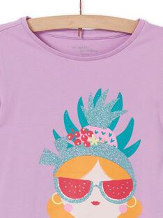 Conjunto pijama t-shirt e leggings lilás criança menina LEFAPYJFRU / 21SH11S4PYG326