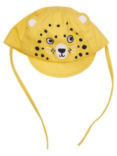 Boné amarelo bebé menino tigre bordado JYUTROCASQ / 20SI10F2CHAB114