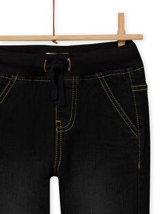 Calças de ganga preto múltiplos bolsos menino MOSAUJEAN / 21W902P1JEAK003