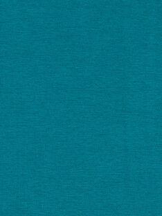 Vestido patinadora em milano turquesa e azul-marinho LAJOROB4 / 21S90132D2FC216