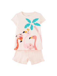 Pijama curto criança menina rosa pálido JEFAPYJ2 / 20SH11U2PYJD328