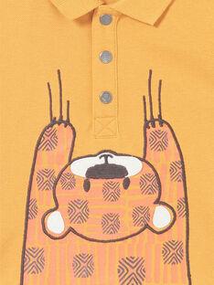 Polo mostarda bebé menino LUTERPOL / 21SG10V1POLB106