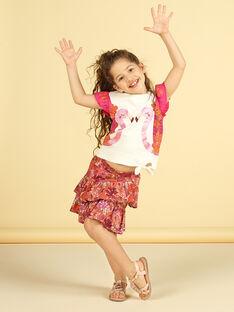 T-shirt mangas curtas, estampado flamingo com purpurinas LATERTI2 / 21S901V2TMC001