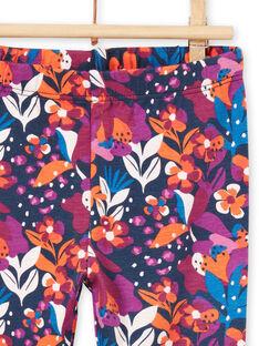 Leggings estampado florido colorido bebé menina MYIPALEG1 / 21WI09H2CALD319