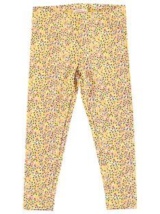 Leggings menina amarelo com peso multicor JYATROLEG1 / 20SI01F1CALB102