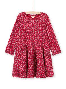 Vestido vermelho estampado florido menina MAMIXROB3 / 21W901J1ROB511
