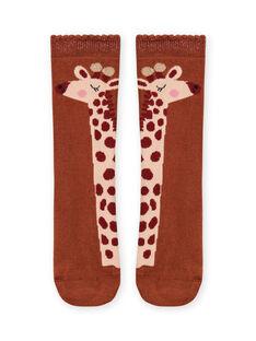 Meias com padrões de girafas menina MYACOMCHO / 21WI01L1SOQ420