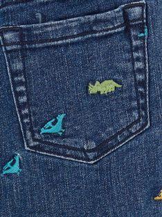 Bermudas de ganga azul estampado dinossauros criança menino LOVERBER2 / 21S902Q1BERP274